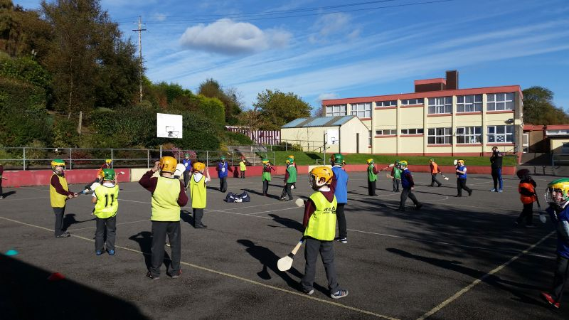 Hurling in the sun.